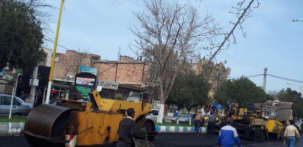 اجرای نهضت ۴۰ هزار تنی آسفالت در پارس آباد/ رسیدگی به مبلمان شهری اولویت شهرداری است