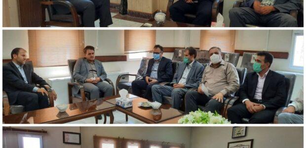 دیدار شهردار و نائب رئیس شورای شهر با  رئیس دادگستری و دادستان شهرستان پارسآباد